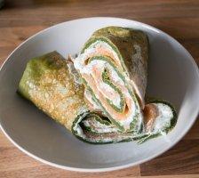 Savoury Pancake Salmon Roll