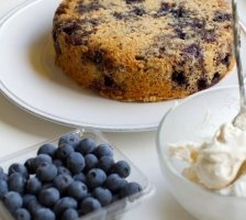 Blueberry Whey Protein Cake Recipe
