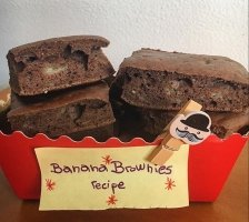 Squidgy Protein Banana Brownies