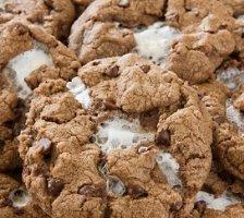 Vegan Peanut Butter And Marshmallow Cookies