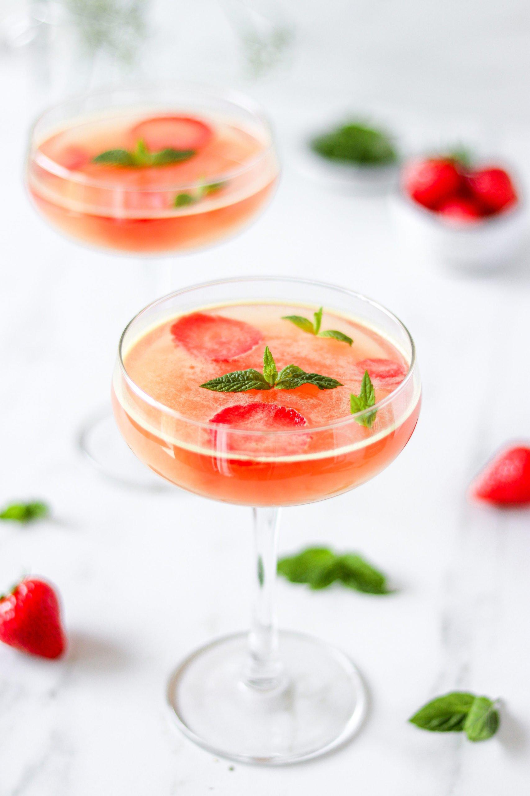 High Protein Strawberry Mojito Jelly