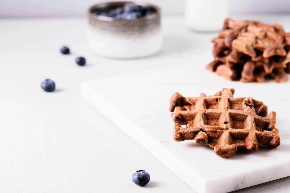 Schokoladen Protein Waffeln