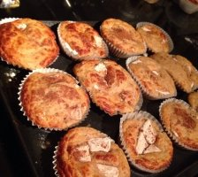 Apfel Zimt Protein Muffins