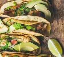 Marinierte Limetten Chicken Tacos