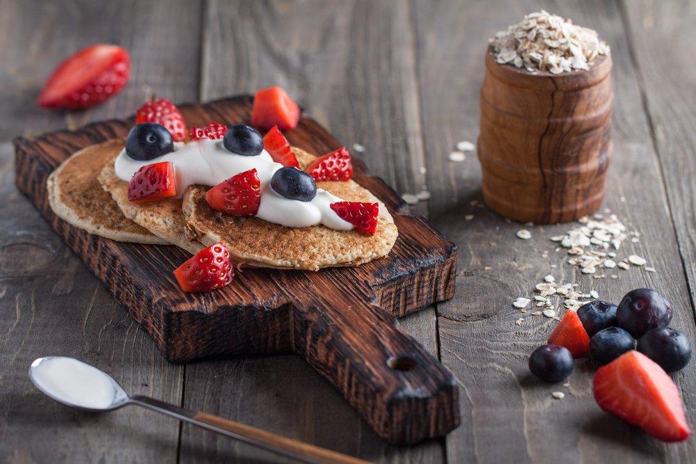 Weisse Schokolade Protein Pancakes