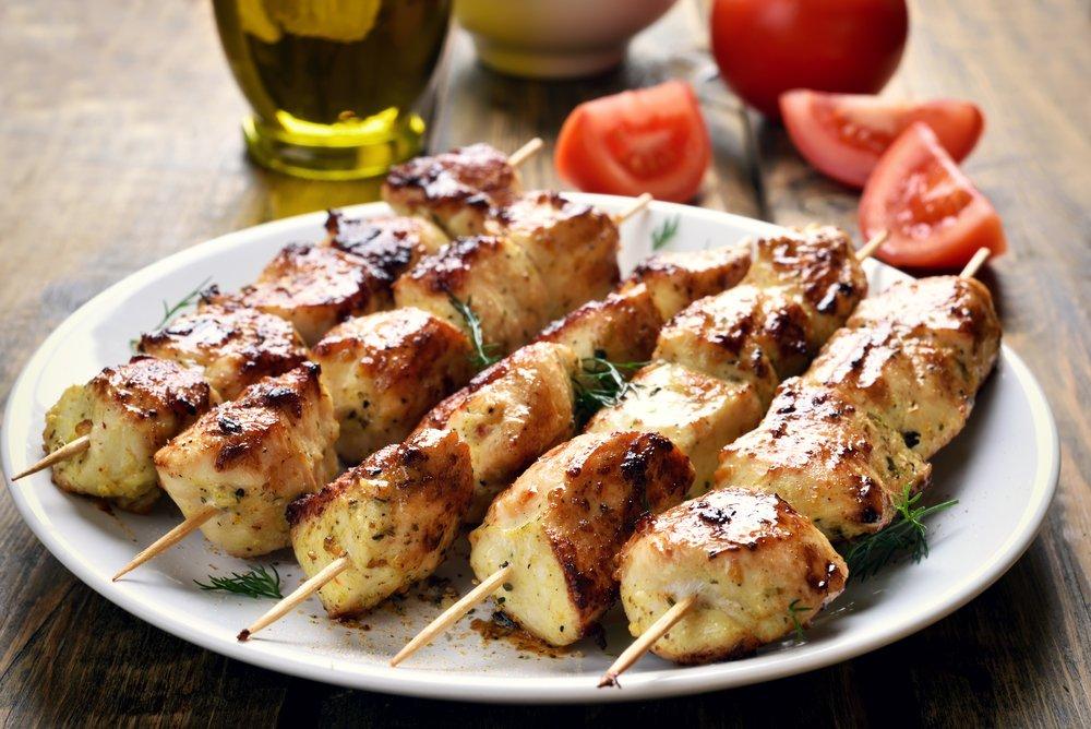 Gegrillte Chicken Kebabs