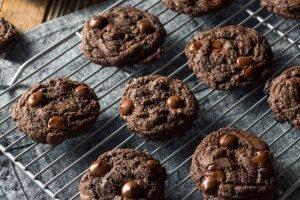 Schoko-Erdnussbutter Cookies
