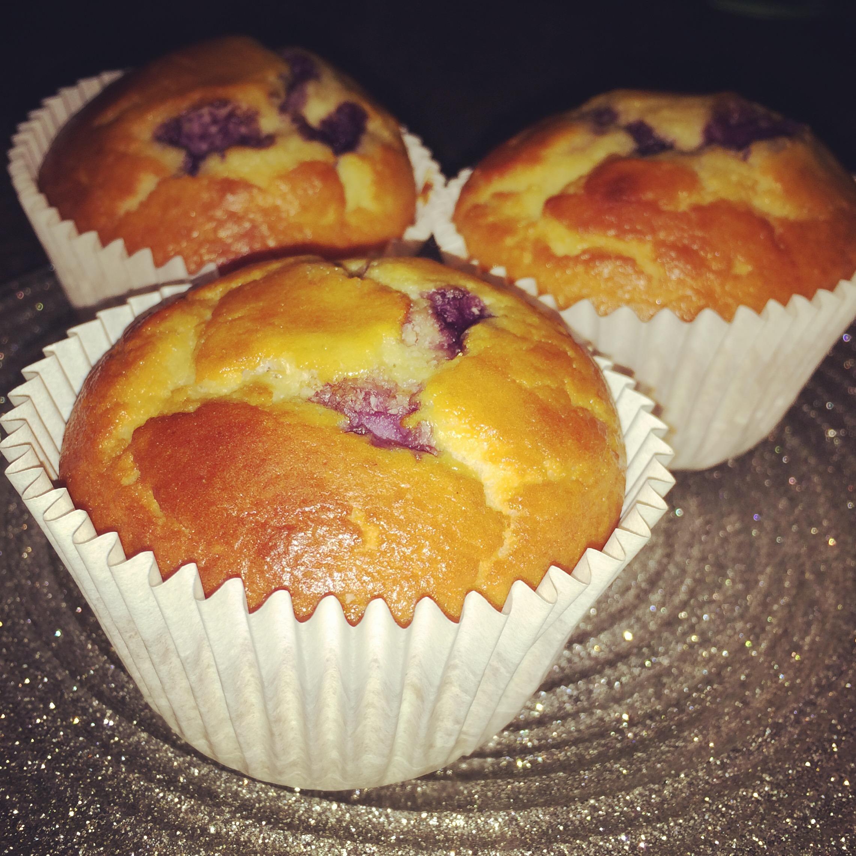 Muffins proteicos de arándanos TPW™