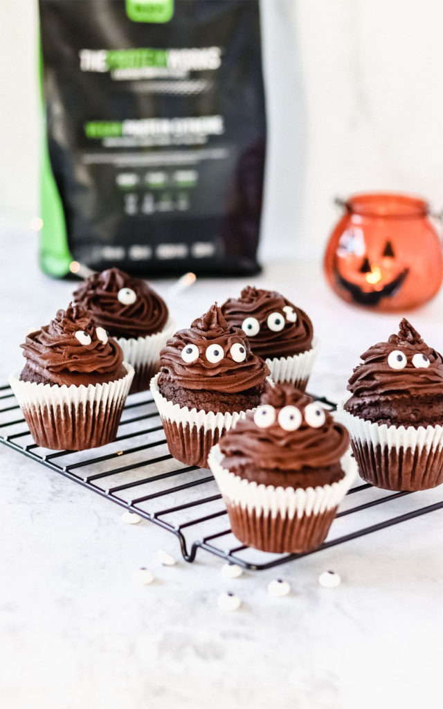 muffins veganos de chocolate