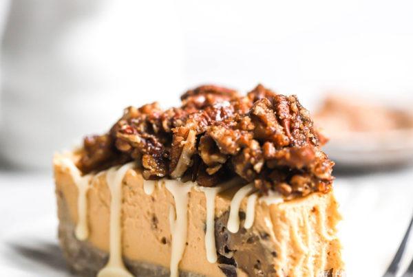 tarta vegana de queso y proteina de calabaza