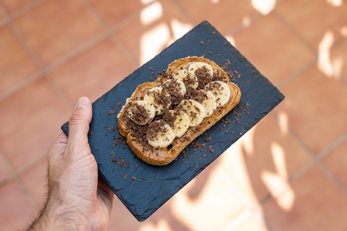 Pane Proteico Al Cioccolato Con Arachidi & Banane