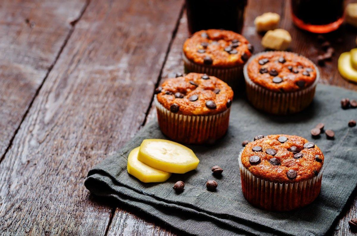 Muffin Alla Banana E Gocce Di Cioccolato