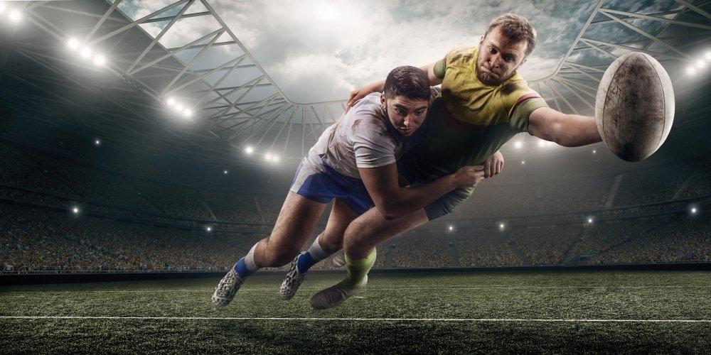 Prendre des protéines de riz brun pour le rugby