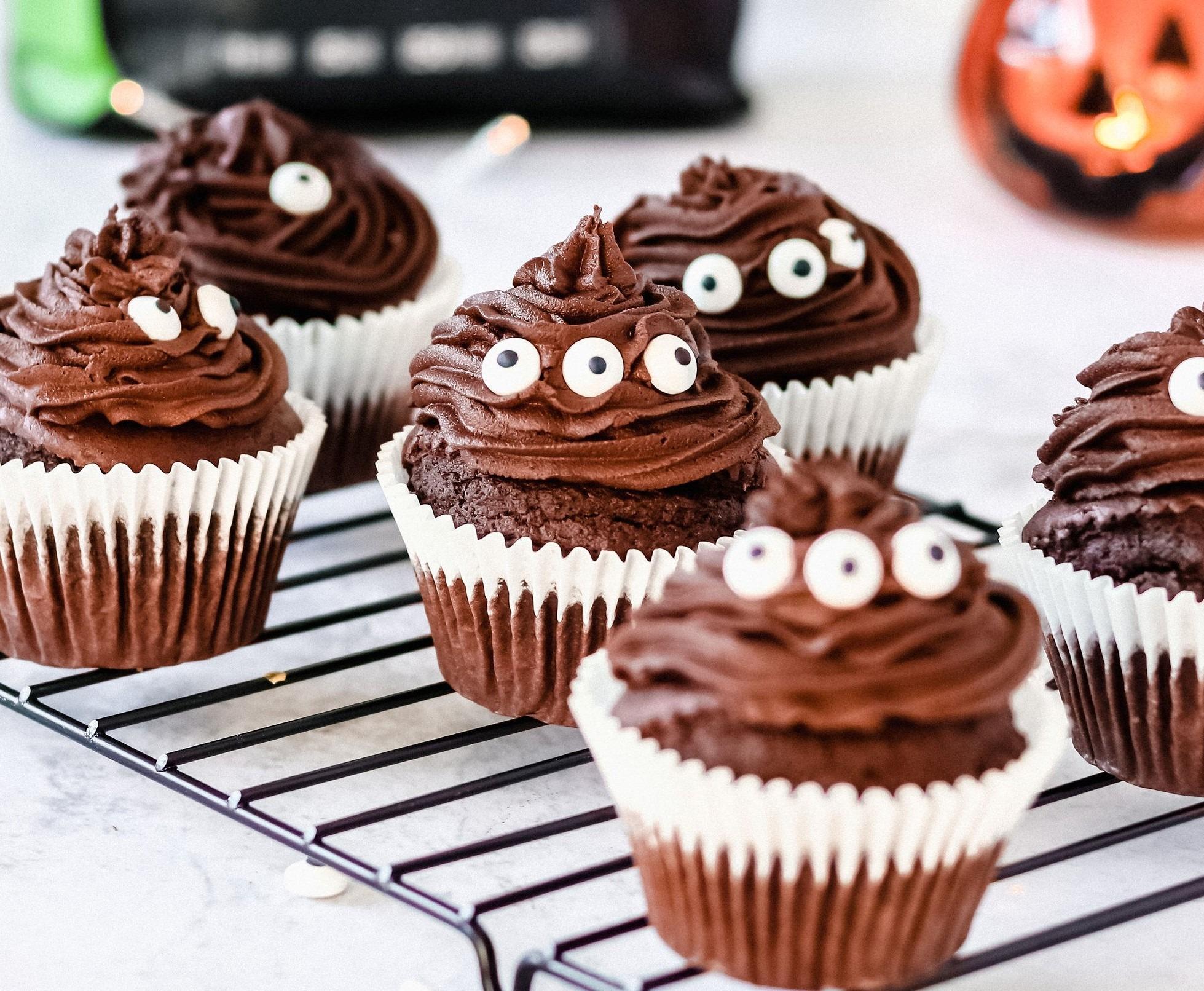 Cupcakes Halloween au Chocolat Simple et Vegan